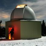 La cupola dell'osservatorio della Società Astronomica della Montagne de Lure